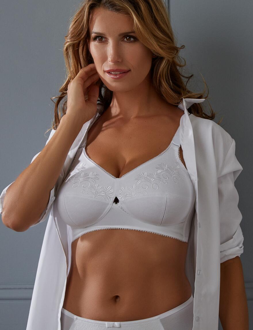 Berlei Total Support Cotton Bra - B518 - White