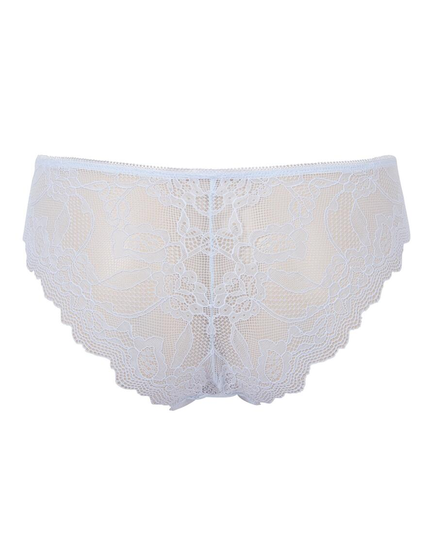 Pretty Polly Lola Lacy Brazilian Briefs  - Pale Denim