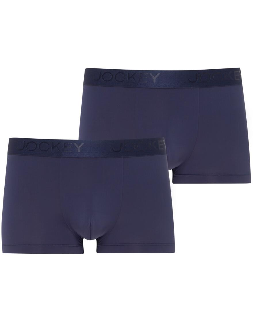 Jockey Mens Microfiber Air Short Trunk - 2 Pack - Navy