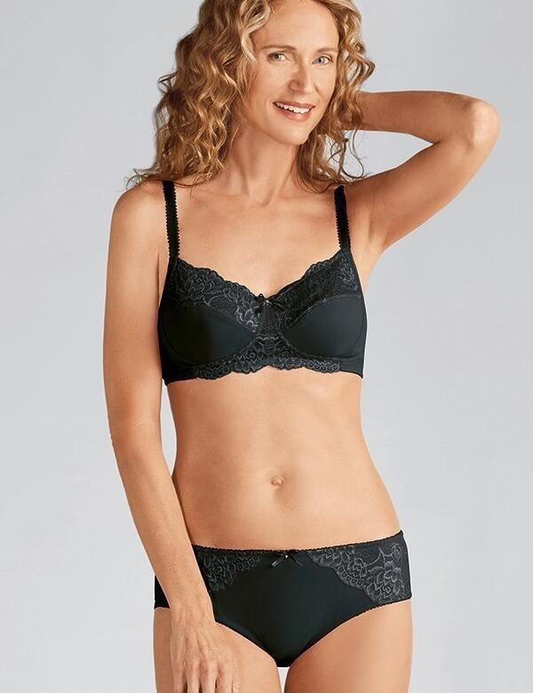 Amoena Lilly Non Wired Pocketed Bra - 44207 - Black