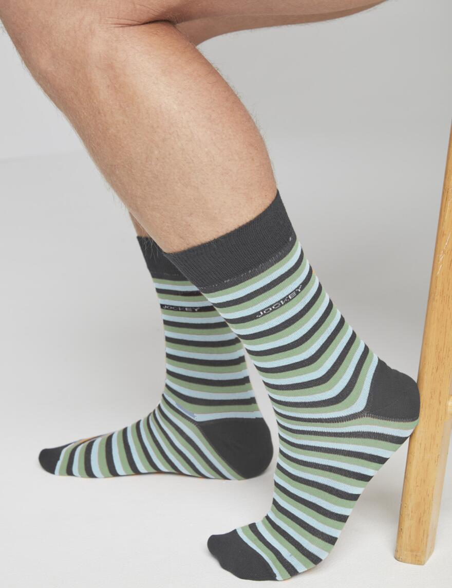 Jockey Cotton Rich Socks - 3 Pair Pack - Casual Dark Denim