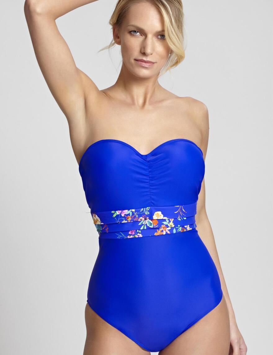 Panache Florentine Bandeau Swimsuit - Cobalt