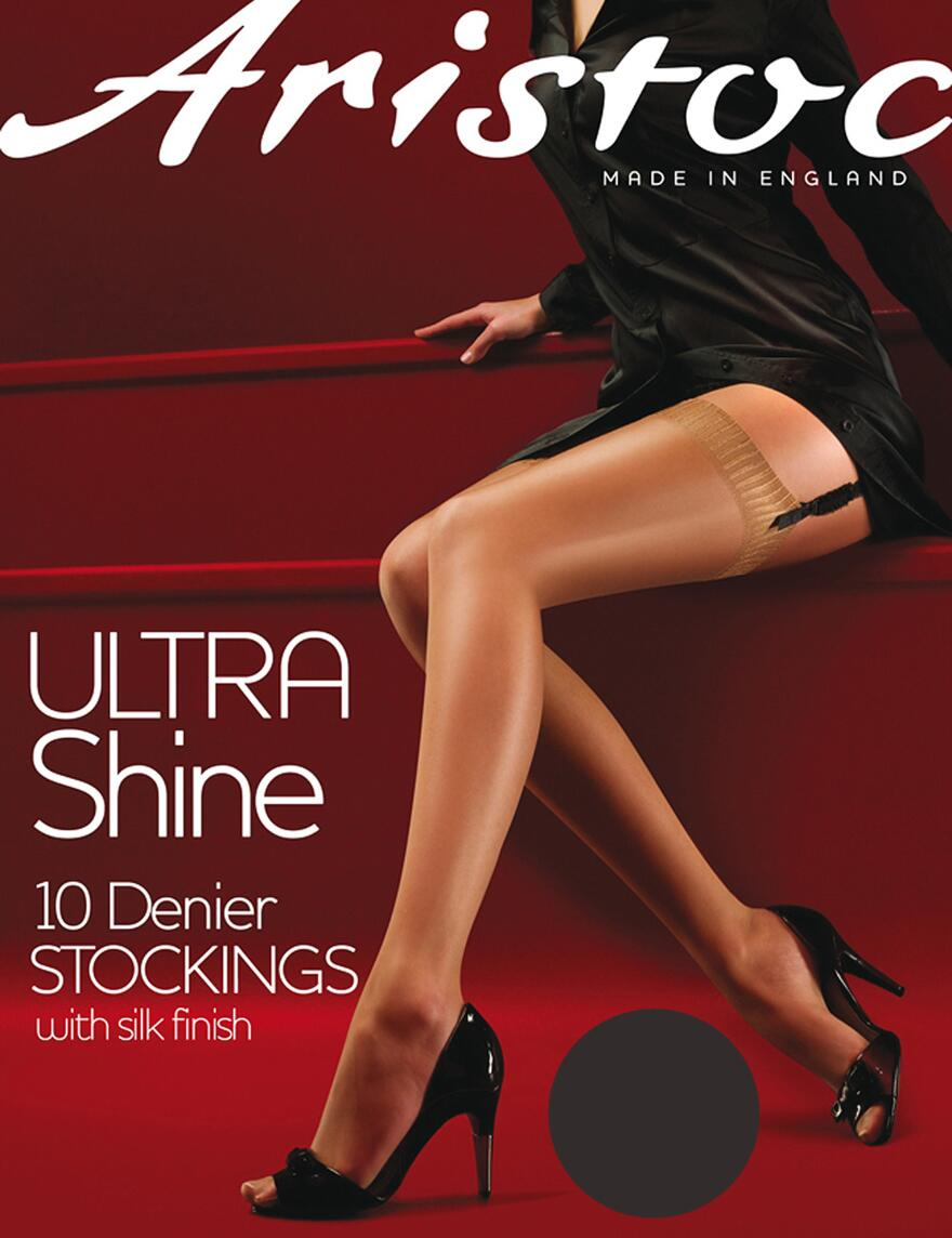 Aristoc Ultra Shine Stockings - Vaguely Black