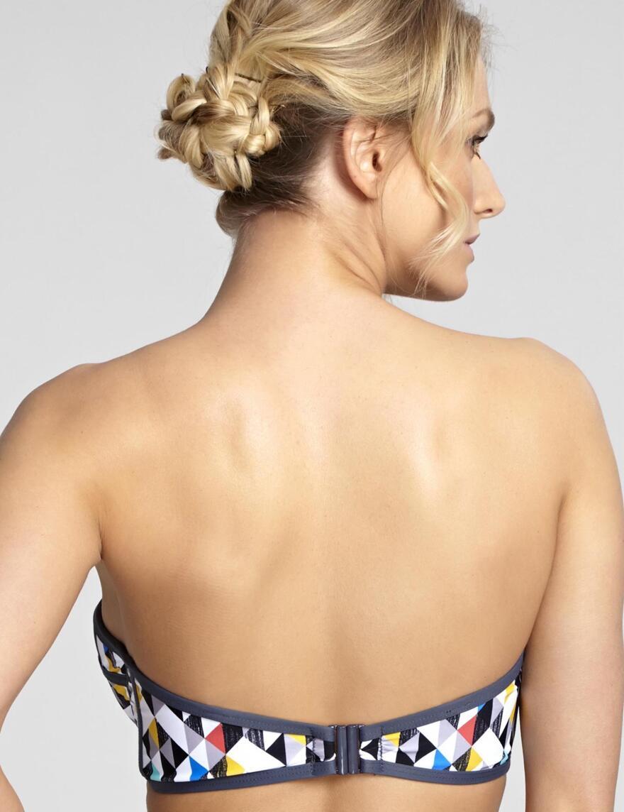 Panache Jolee Bandeau Bikini Top - Harlequin