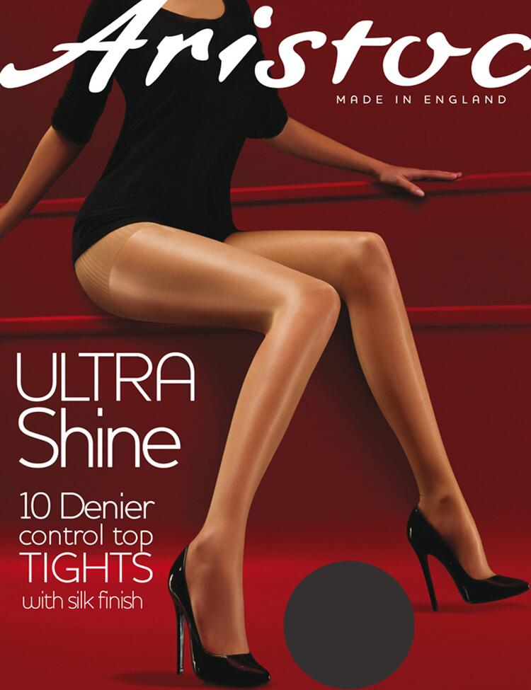 Aristoc Ultra Shine Control Top Tights - Vaguely Black