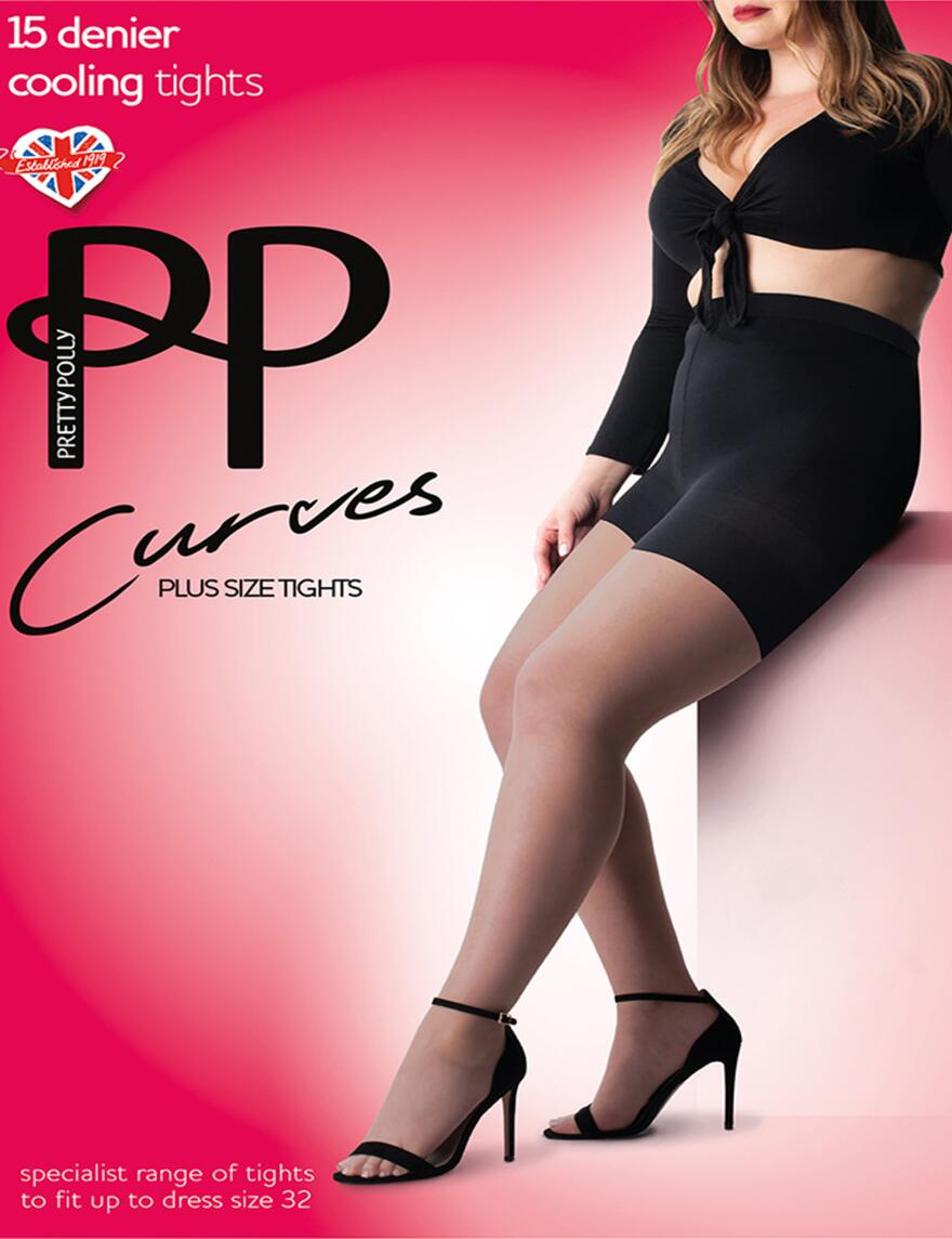 Pretty Polly Curves 15 Denier Cooling Tights - Nude