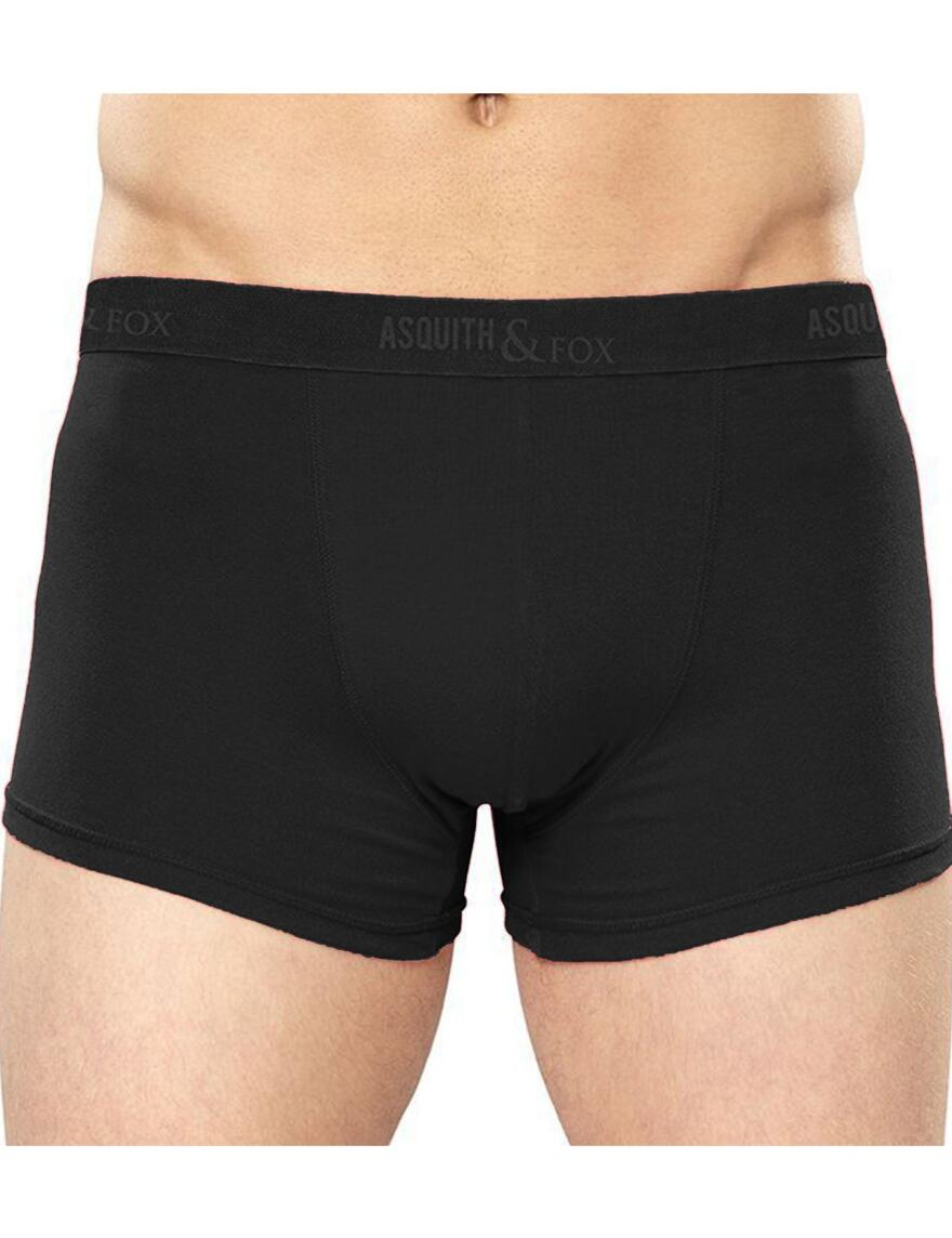 Asquith & Fox Boxer Shortie - 2 Pack - Black