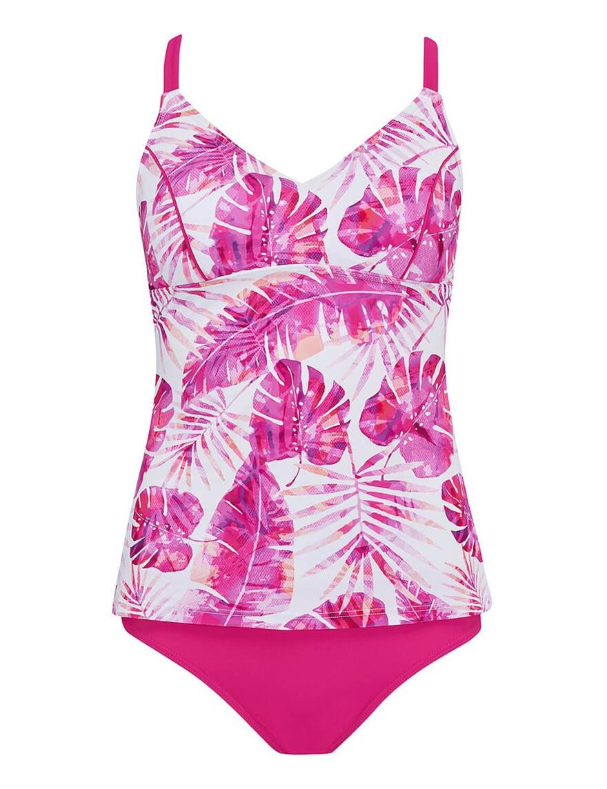 Nicola Jane Miami V-Neck Tankini - Multi