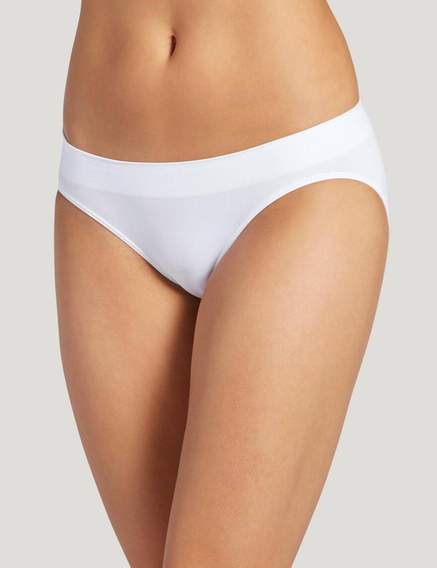 Jockey® Modern Micro Seamfree™ Bikini Briefs - White