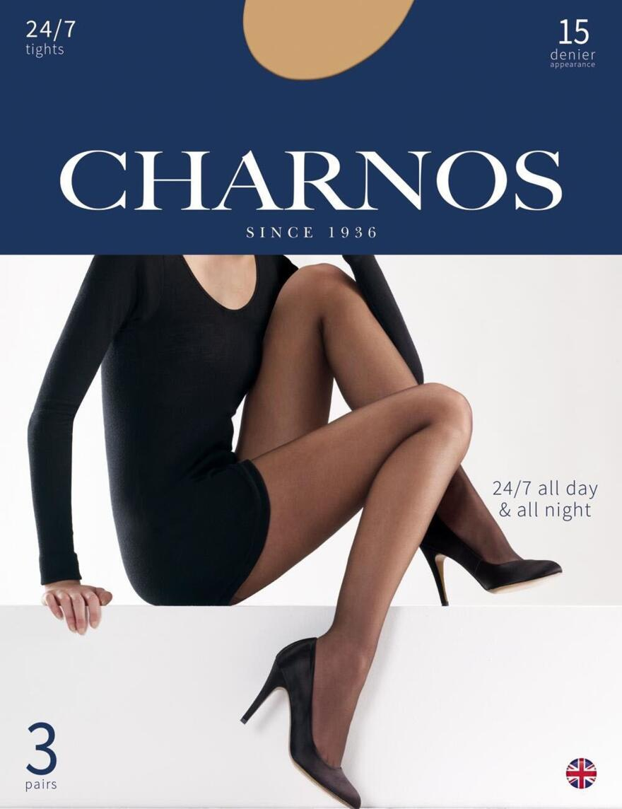 Charnos 15 Denier Tights 24/7 - 3 Pack - CAJG - Sherry