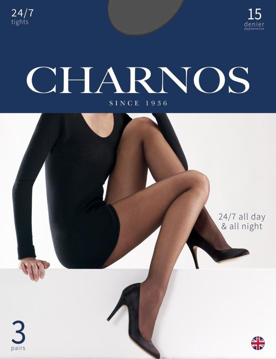 Charnos 15 Denier Tights 24/7 - 3 Pack - CAJG - Barely Black