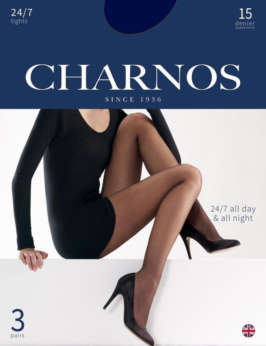 Charnos 15 Denier Tights 24/7 - 3 Pack - CAJG - Navy