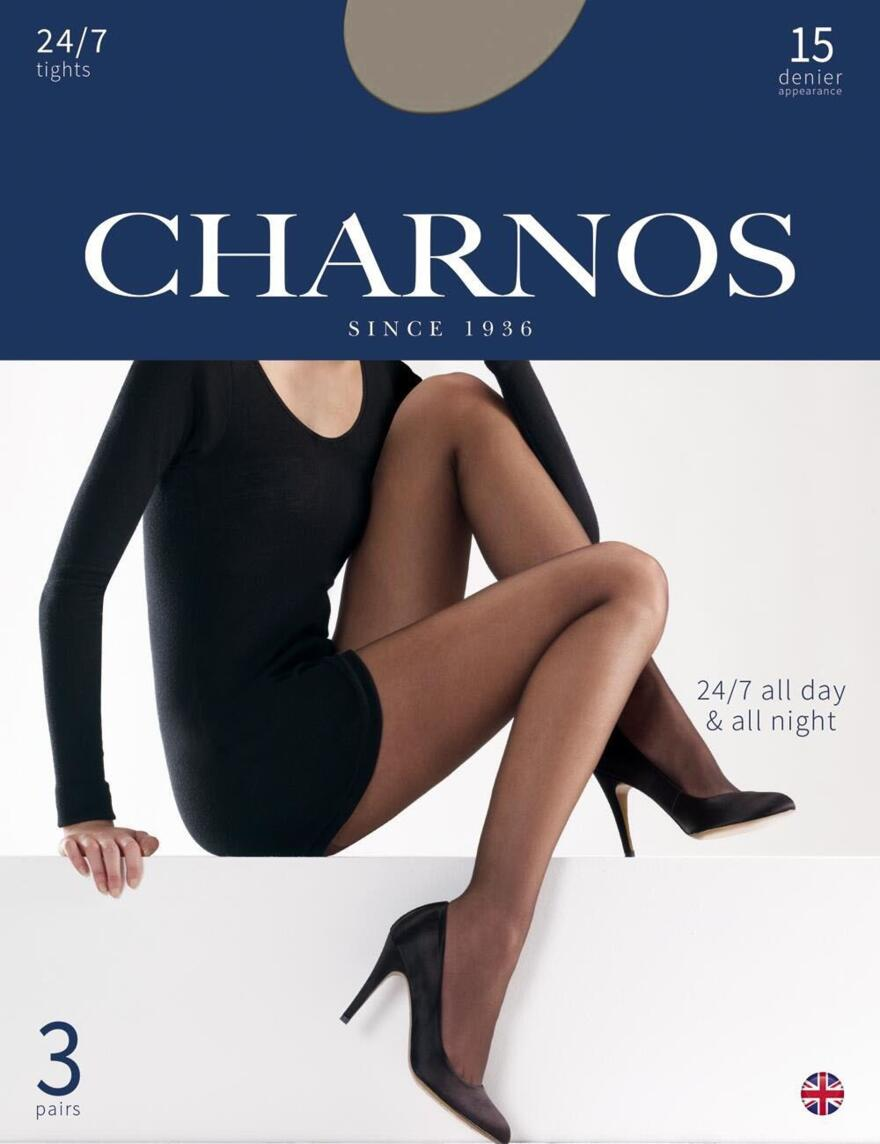 Charnos 15 Denier Tights 24/7 - 3 Pack - CAJG - Smoke