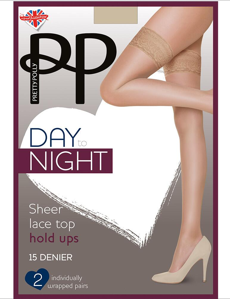 Pretty Polly Day To Night 15 Denier Hold Ups- 2 Pack - Black