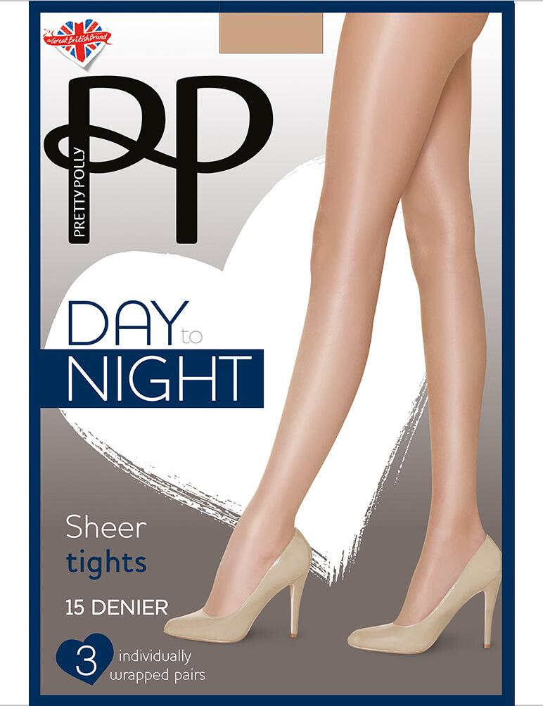Pretty Polly Day To Night 15 Denier Tights - 3 Pack - Sherry
