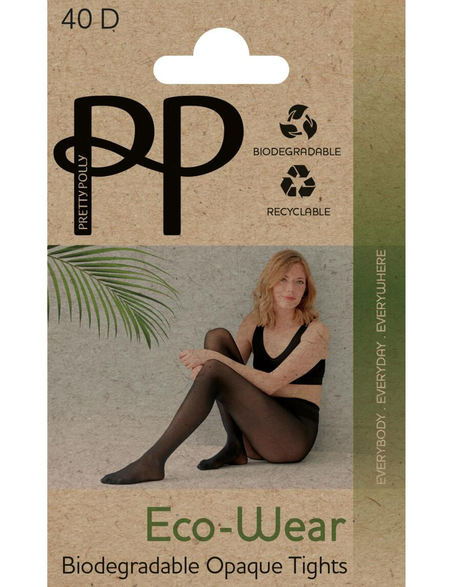 Pretty Polly 40 Denier Eco-Wear Tights - Black