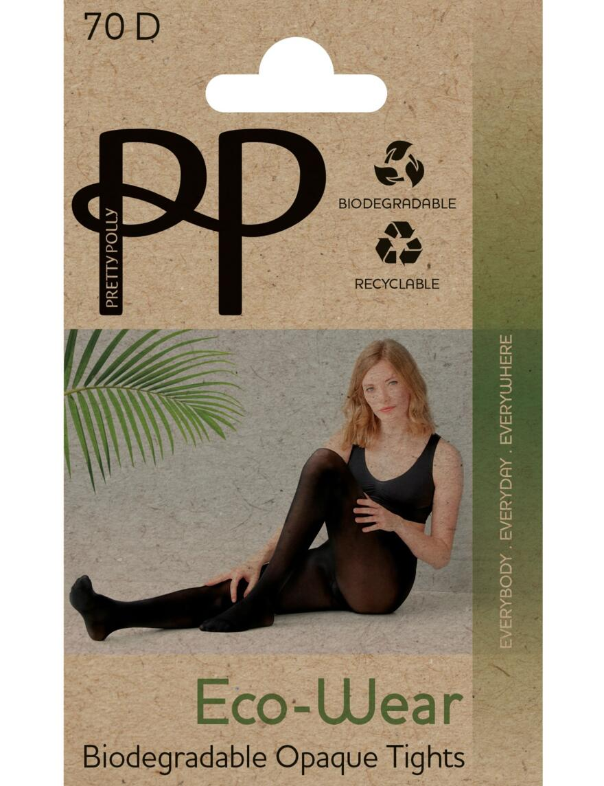 Pretty Polly 70 Denier Eco-Wear Tights - Black