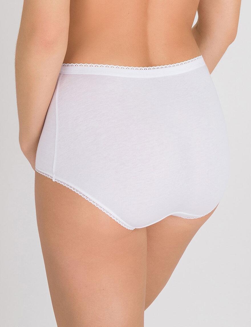 Playtex Cotton Stretch Maxi Briefs - White