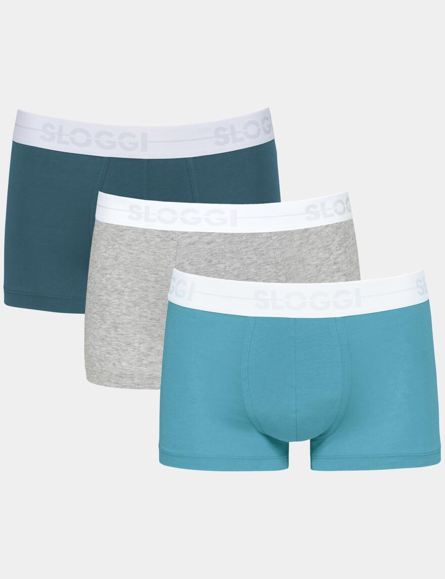 Sloggi Men Go Hipster Shorts - Turquoise Combo (M007)