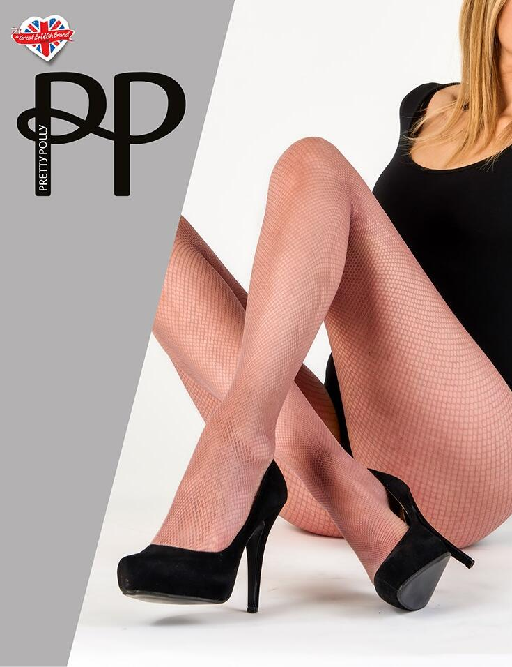 Pretty Polly Coloured Fishnet Tights - Woodrose