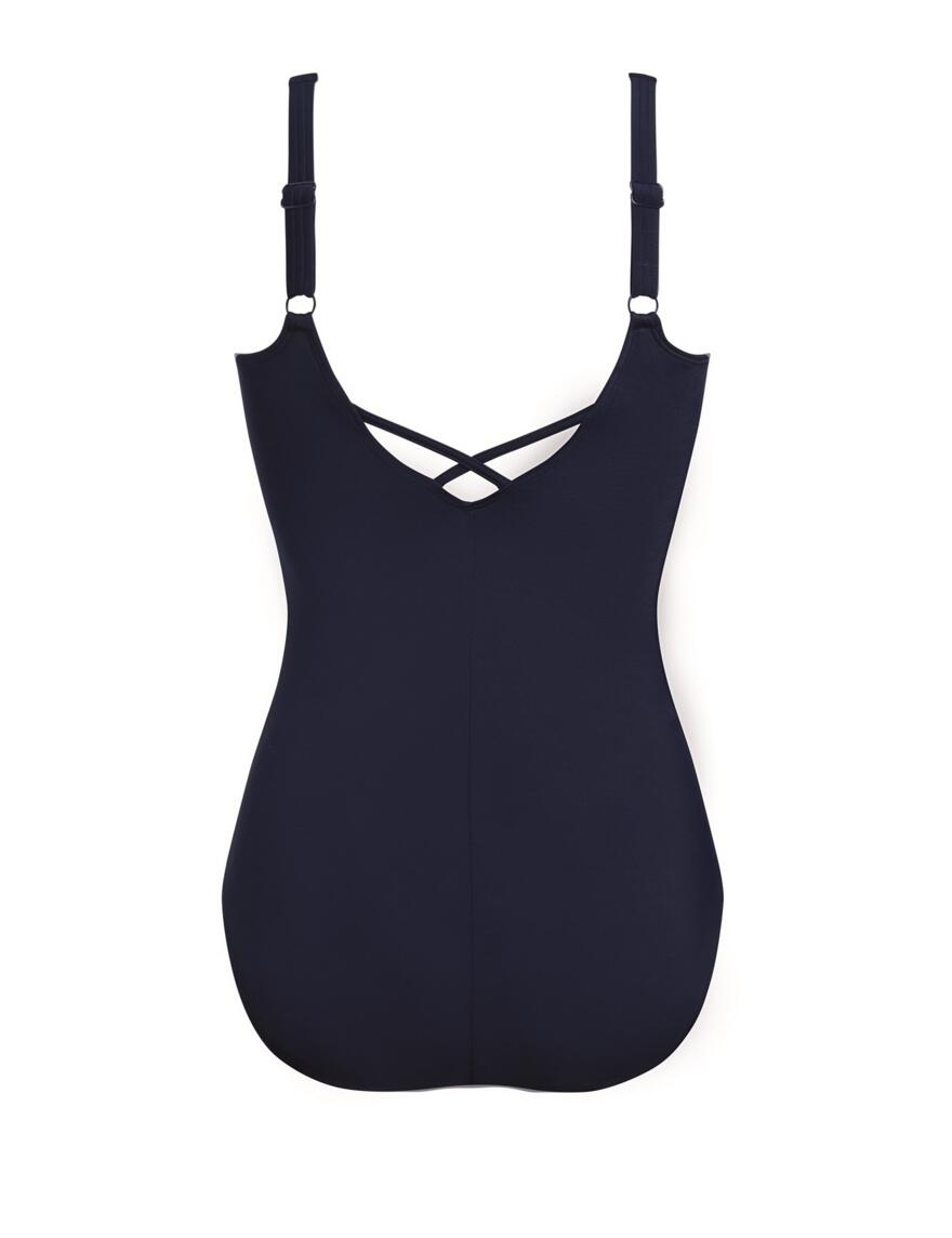 Amoena Capri Swimsuit - Pocketed - Dark Blue Multi