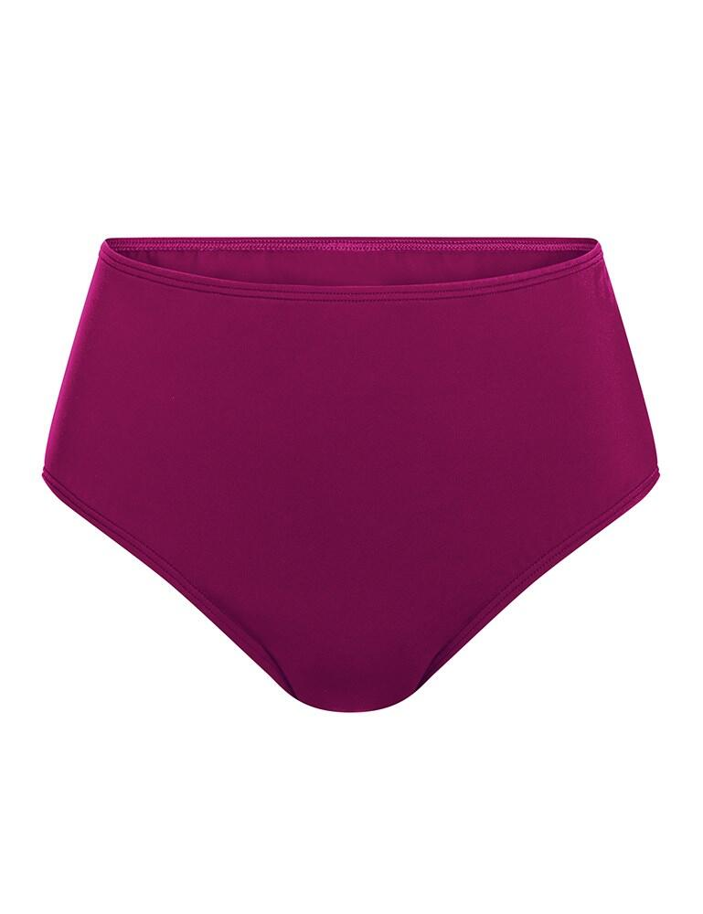Amoena La Paz High Waist Bikini Brief - Dark Berry Pink