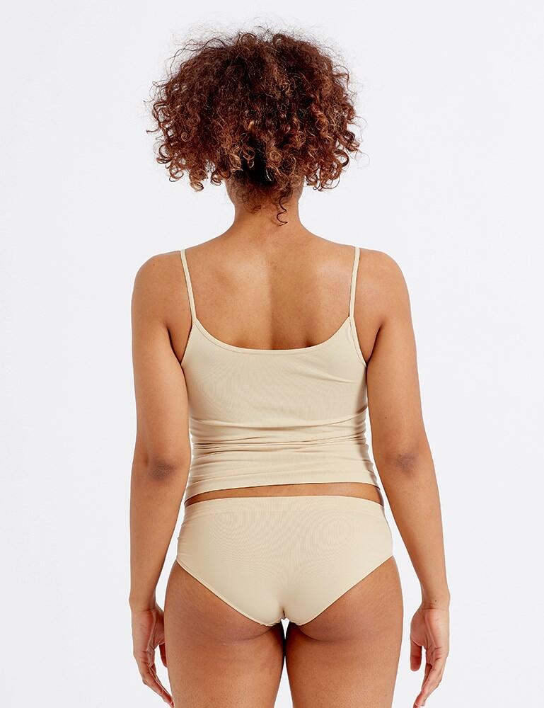Pretty Polly Eco-Wear Seamfree Cami Vest - Nude