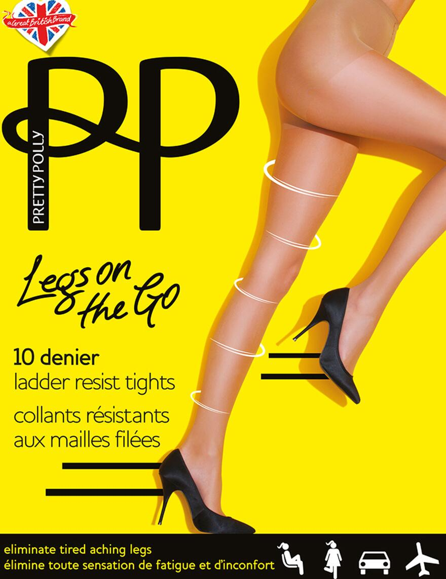 Pretty Polly Legs On The Go 10 Denier Tights - Nude