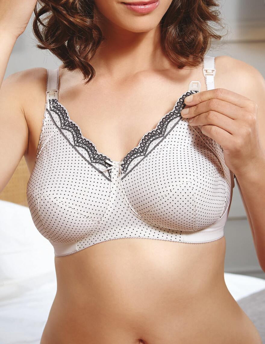 Royce Ava Nursing Bra - 1137 - Cream/Black Spot