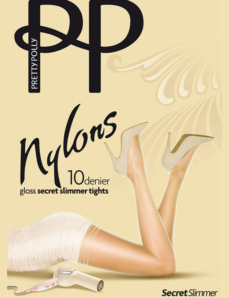 Pretty Polly Nylons Secret Slimmer Tights - 10 Denier - Black