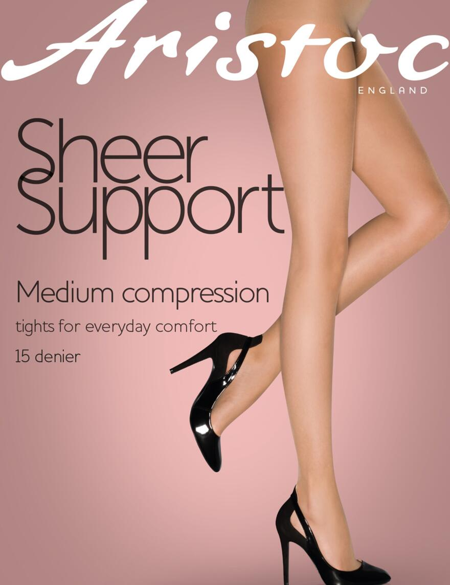 Aristoc Sheer Support Tights - 15 Denier - Nude