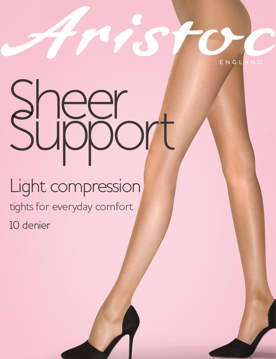 Aristoc Sheer Support Tights - 10 Denier - Black