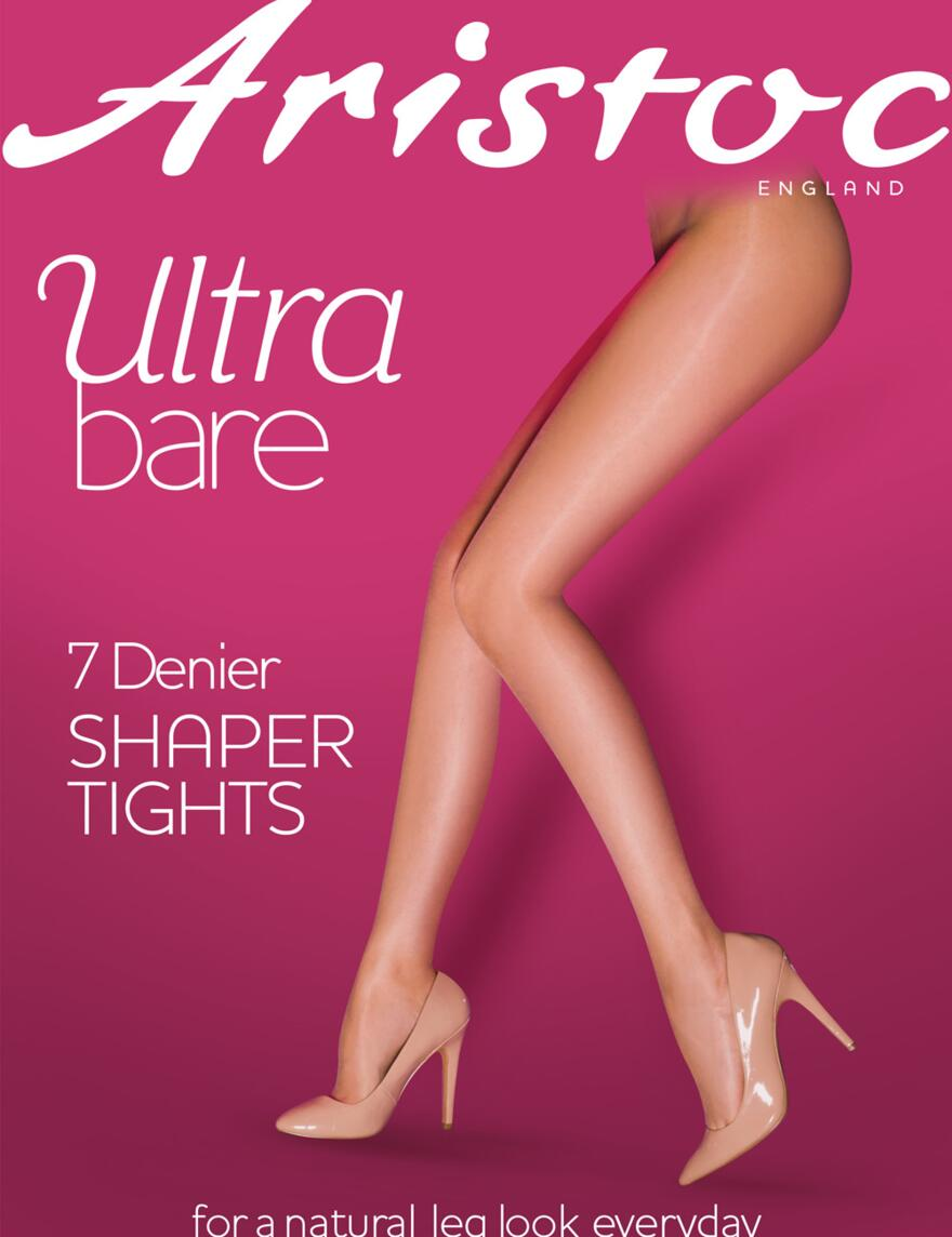 Aristoc Ultra Bare Shaper Tights - 7 Denier - Black
