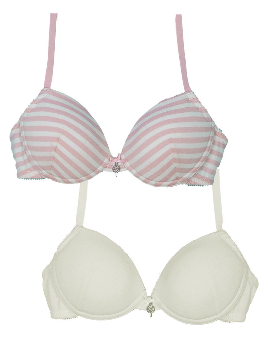 Royce Missy Bras - 2 Pack  - Candy Floss/Cream
