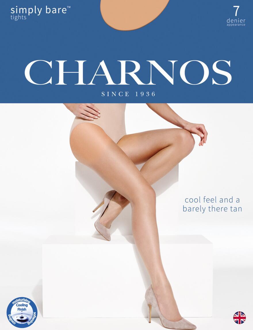 Charnos Simply Bare 7 Denier Tights - CATI - Natural Tan