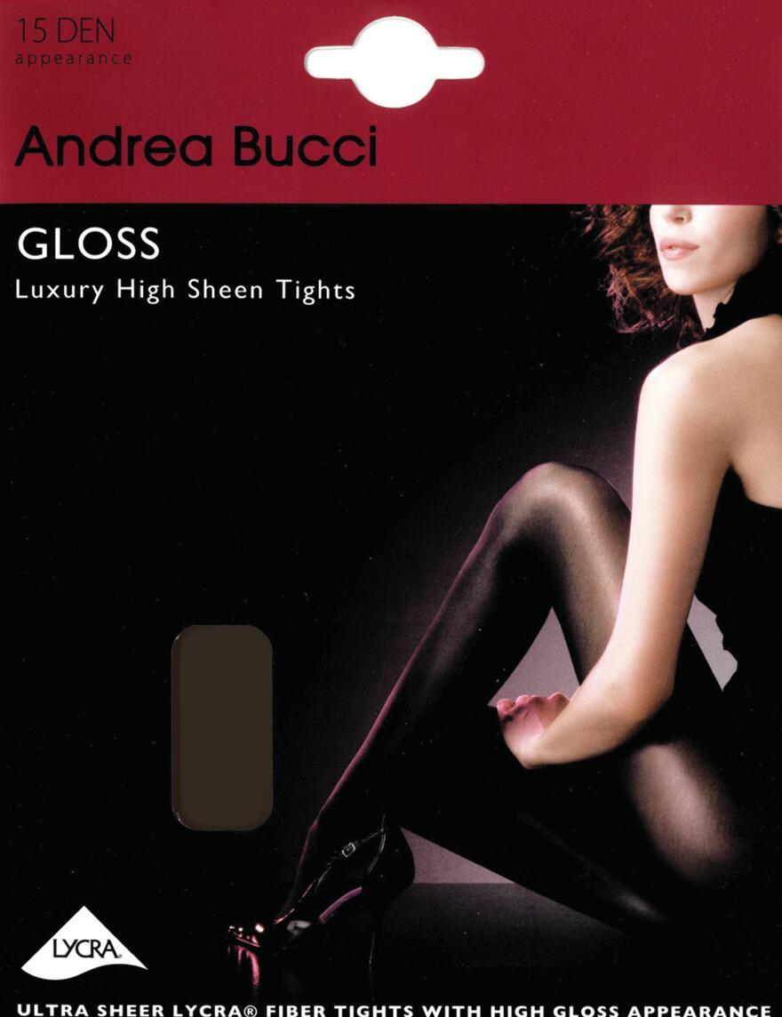 Andrea Bucci Gloss Tights - 15 Denier - Black