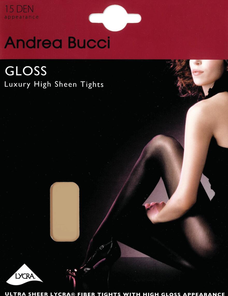 Andrea Bucci Gloss Tights - 15 Denier - Natural