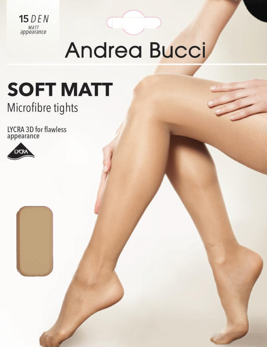 Andrea Bucci Ultra Sheer Soft Matt Tights - 15 Denier - Natural