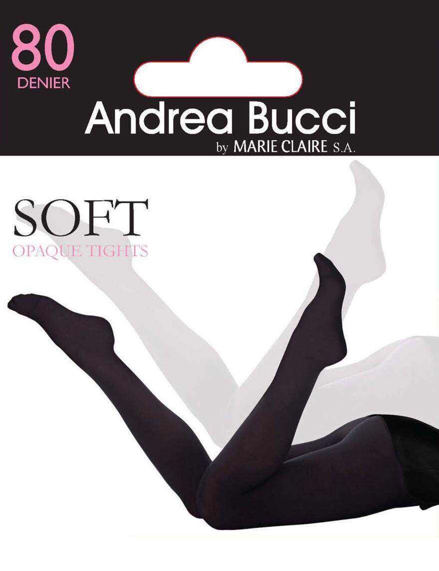 Andrea Bucci 80 Denier Opaque Tights - Black