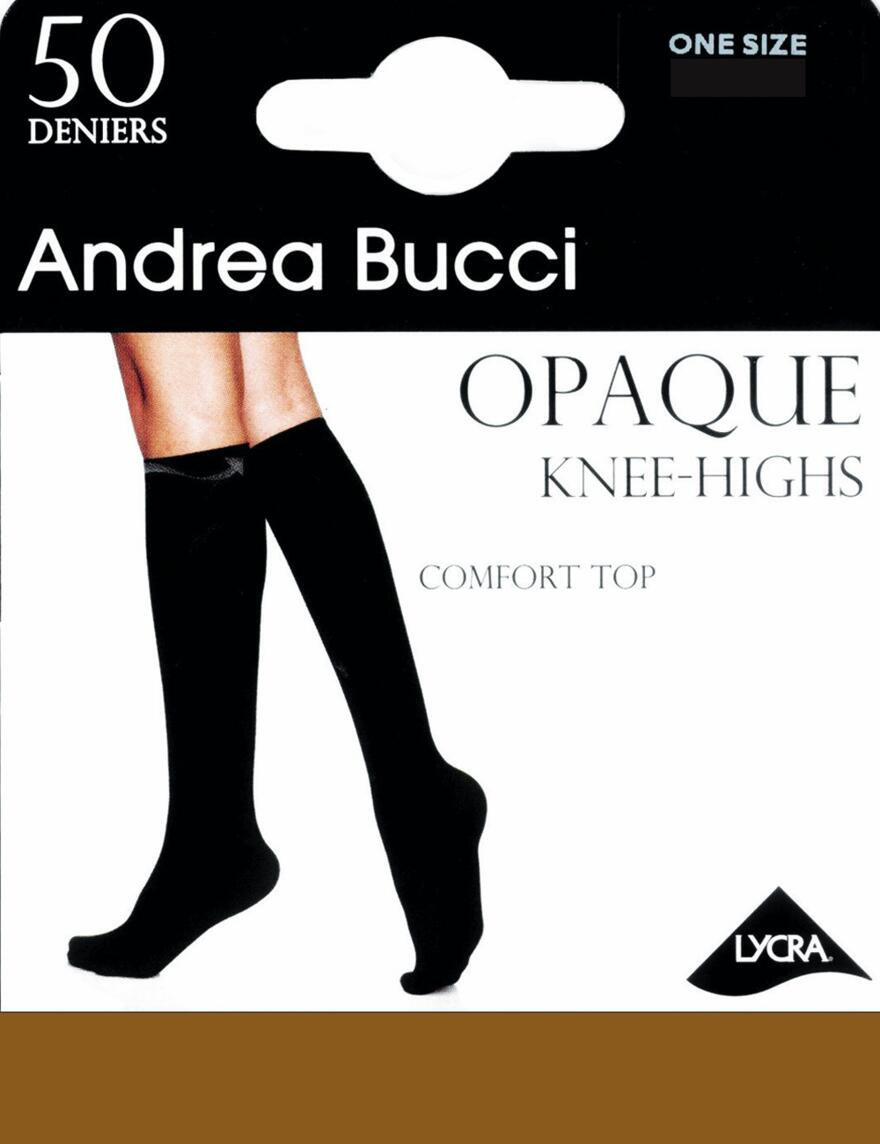 Andrea Bucci Comfort Top Knee Highs - 50 Denier - Natural