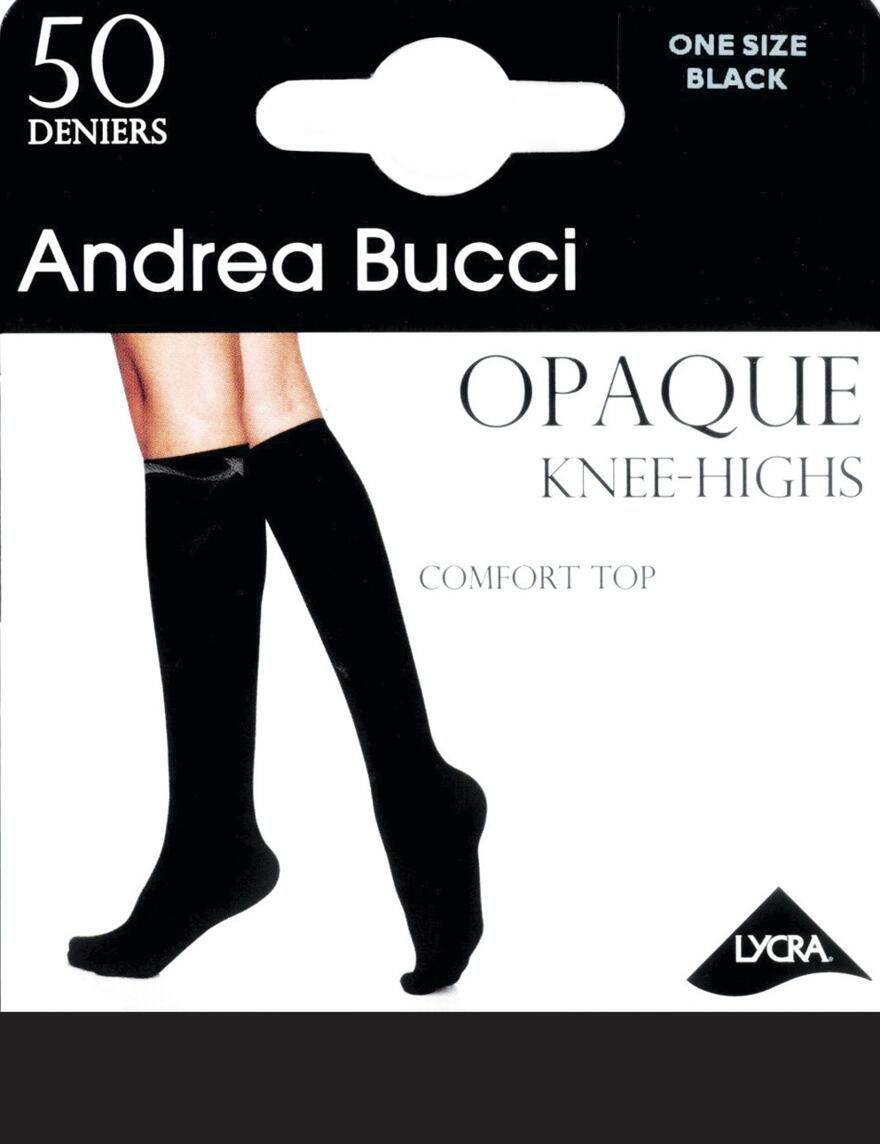 Andrea Bucci Comfort Top Knee Highs - 50 Denier - Black