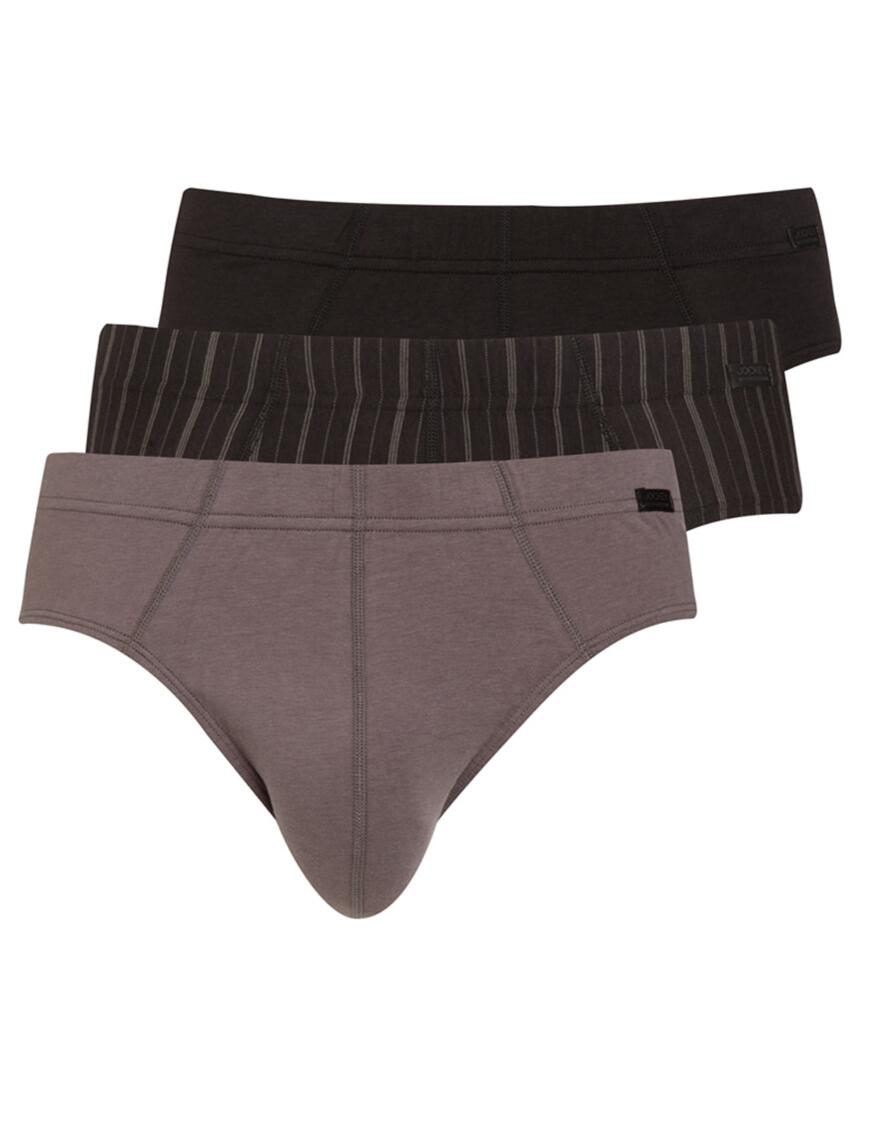 Jockey Cotton Plus Midi Briefs - 3 Pack - Grey 974