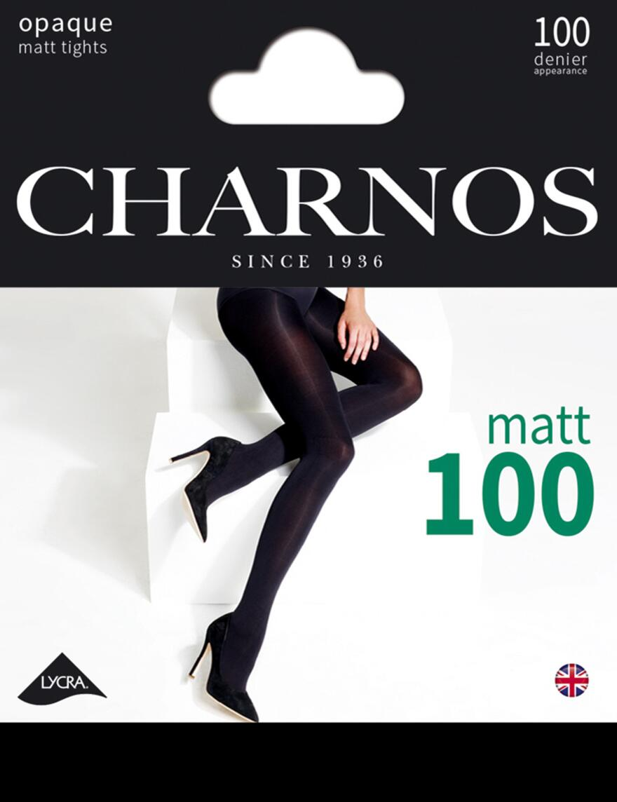 Charnos 100 Denier Opaque Tights - CAAY - Black