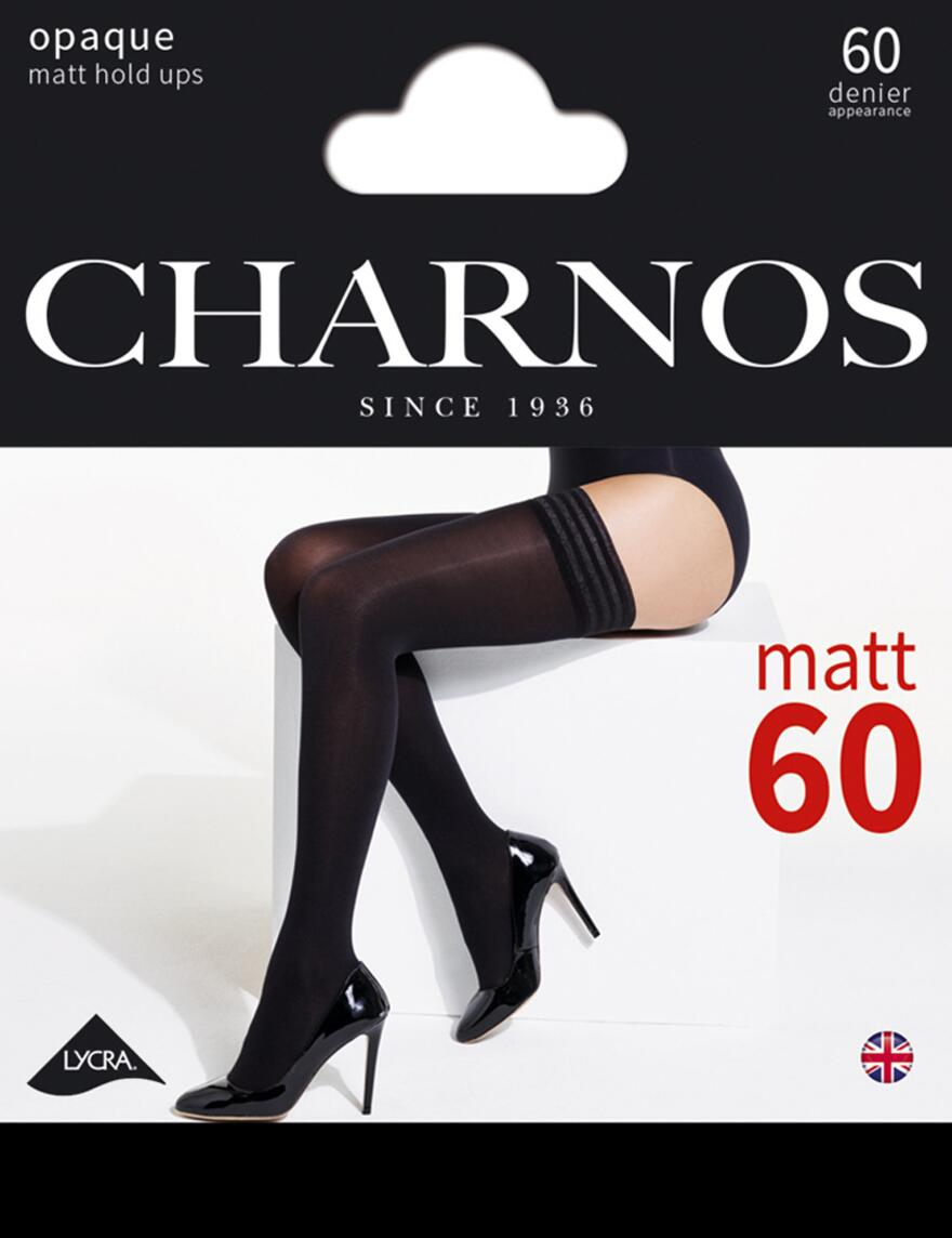 Charnos 60 Denier Hold Ups - CBAU - Black