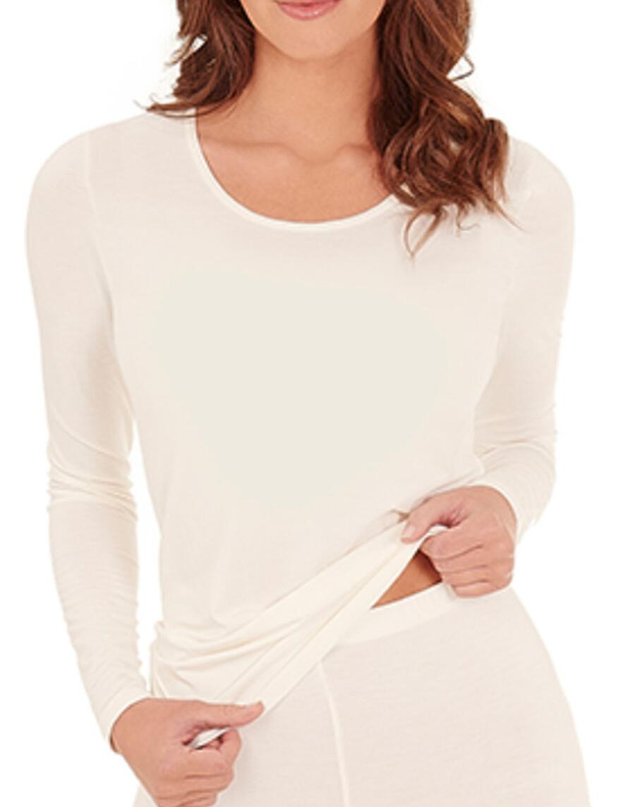 Charnos Second Skin Thermal Long Sleeve Vest Top - Ivory