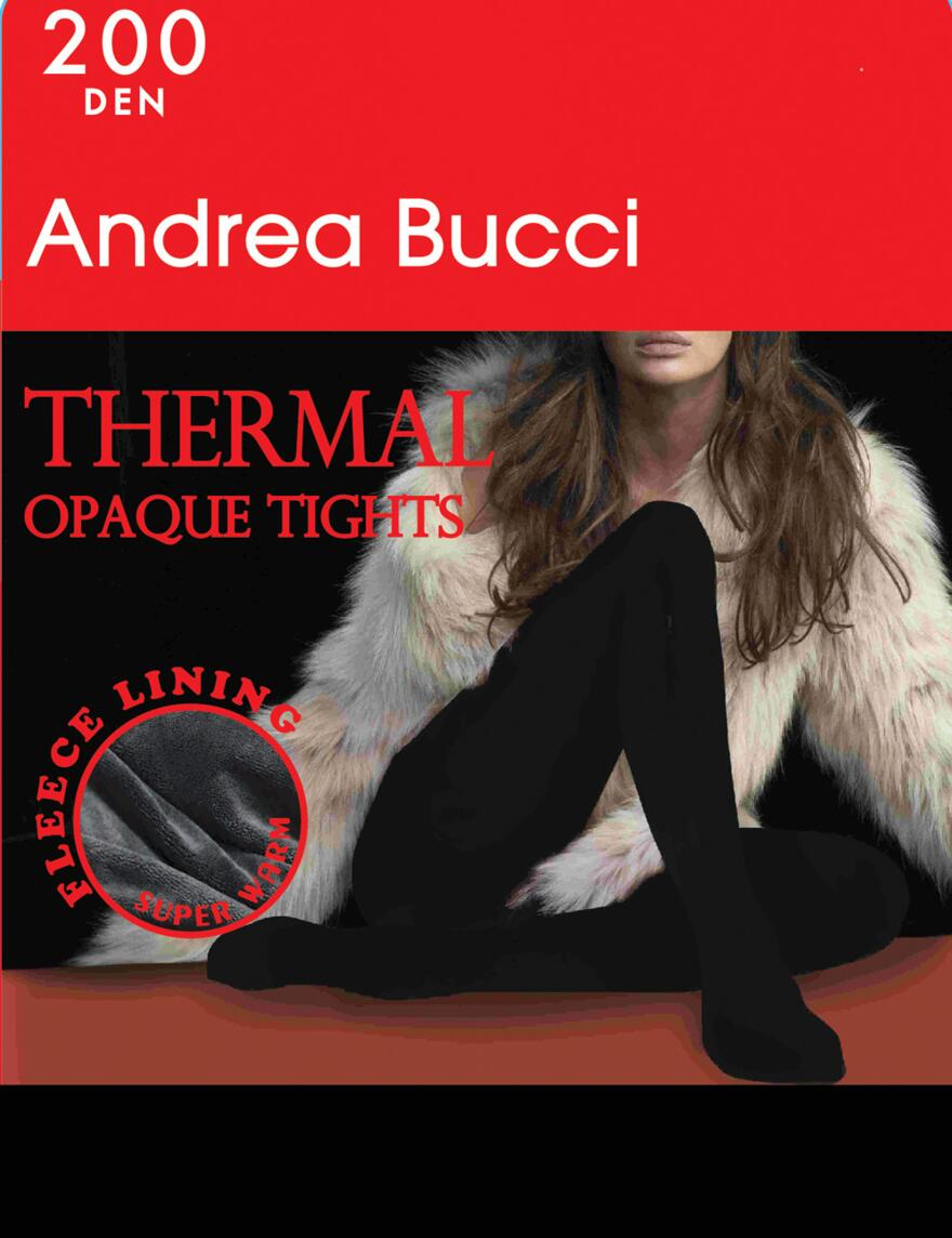 Andrea Bucci 200 Denier Thermal Tights - Black