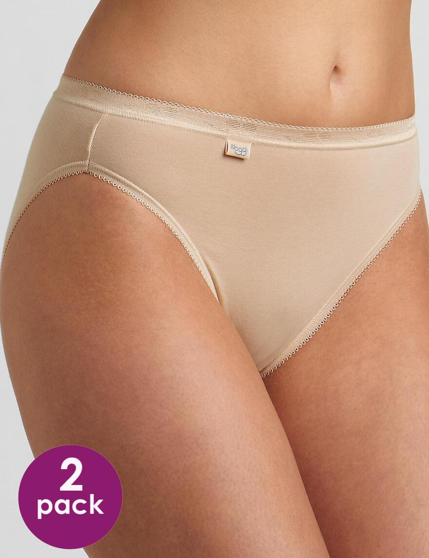 Sloggi Basic Tai Briefs (2 pack) - Poudre (2x1 packs)