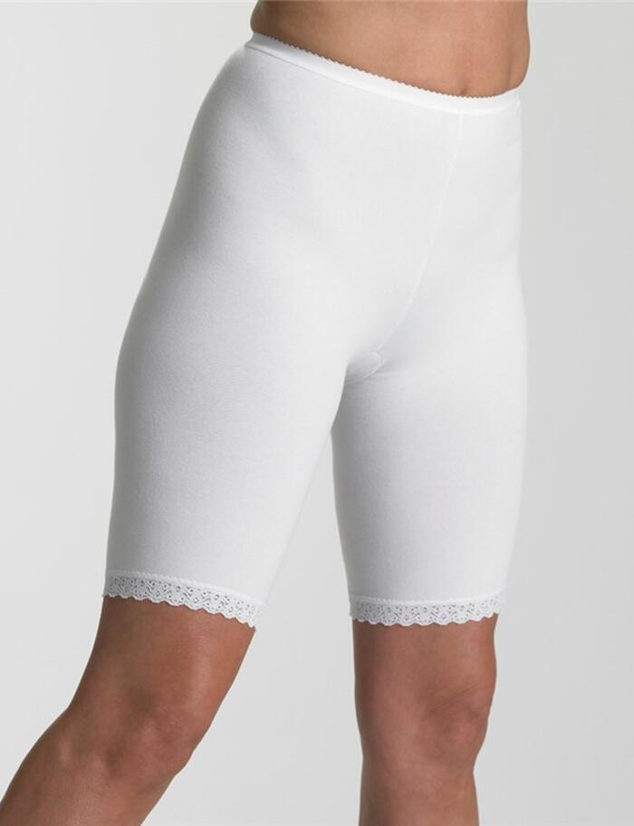 Brettles Long Leg Cotton Rich Pantee - BUW028 - White