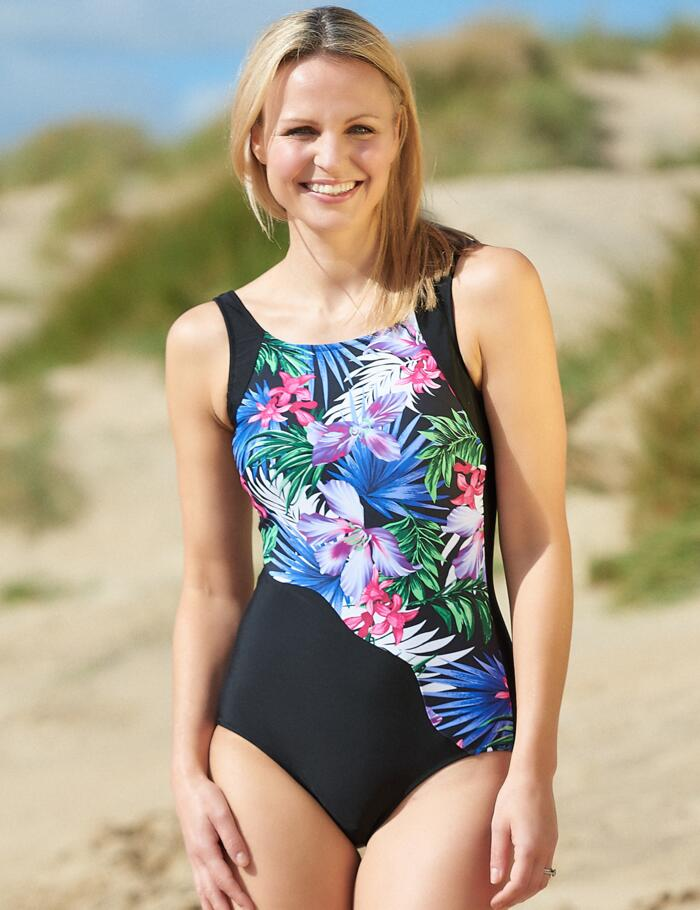 Nicola Jane Maui Bias Swimsuit - S815 - Multi