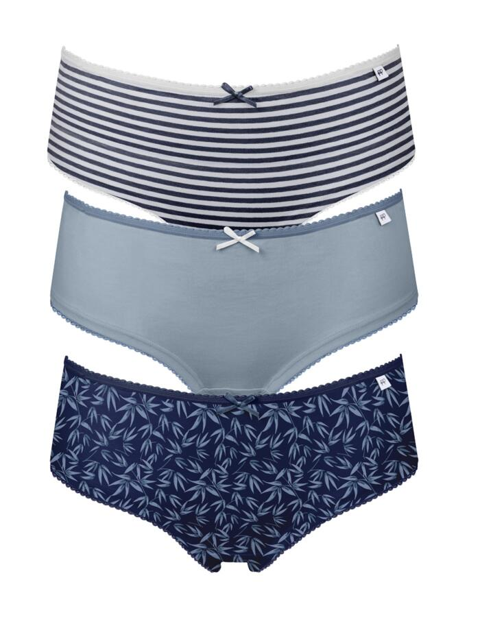Pretty Polly Alice Hipster Briefs - 3 Pack - Oriental Blue